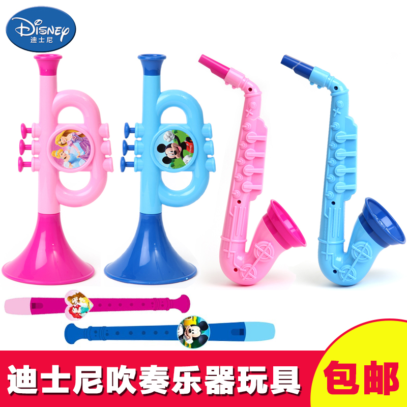 Musical Toy Trumpet : Disney small trumpet children blowing musical instrument