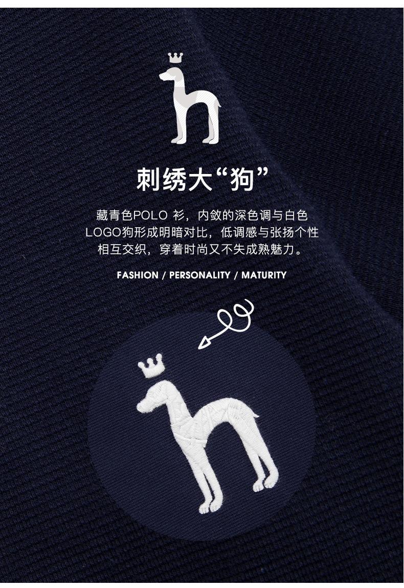 LG时装旗下中高端品牌 Hazzys 哈吉斯 男士商务休闲Polo衫 图2
