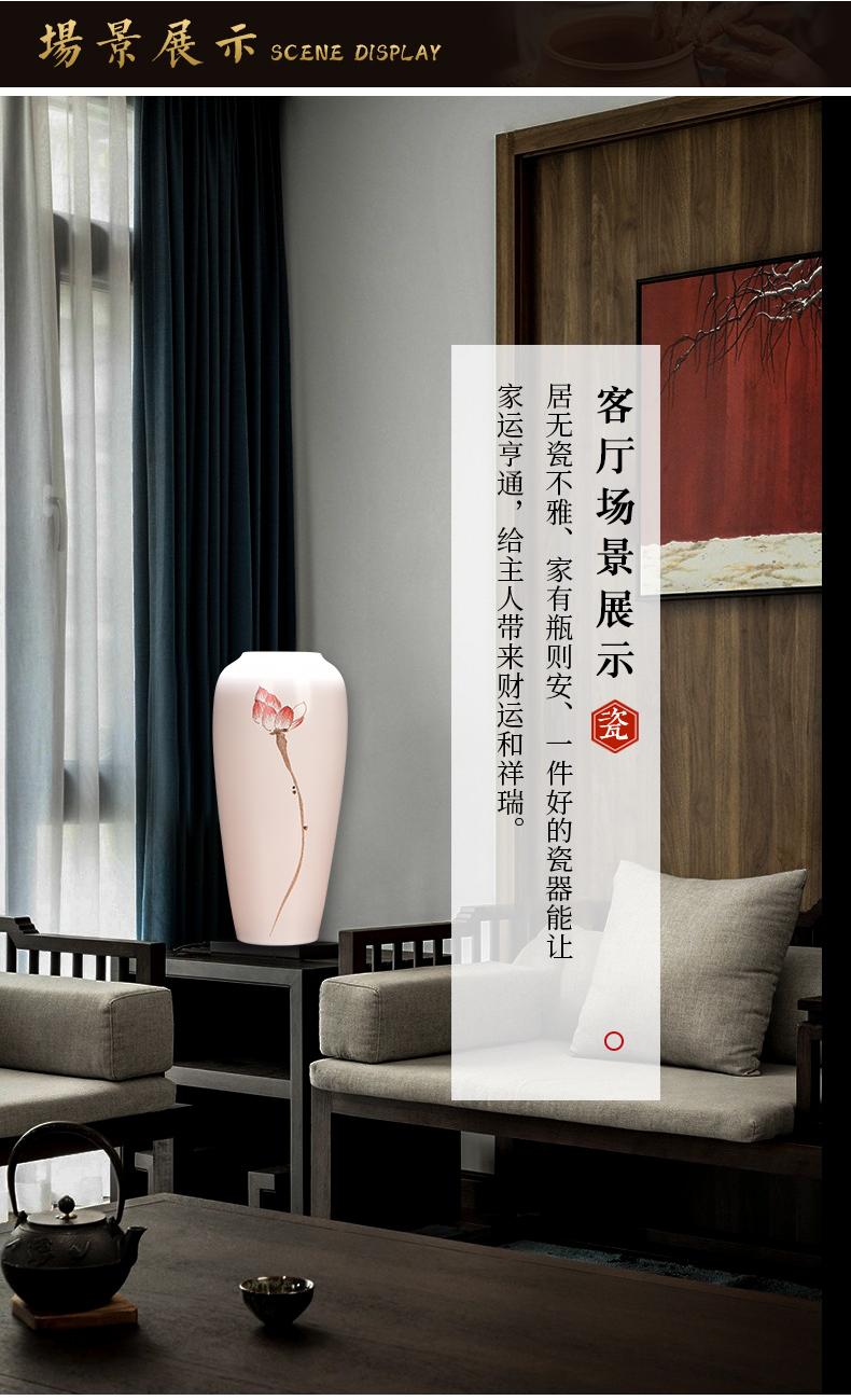 Jingdezhen ceramic new Chinese zen vases, flower receptacle desktop furnishing articles sitting room porch TV ark, home decoration