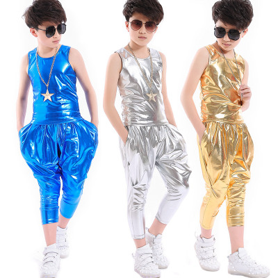 Jazz Dance Costume  performance clothes dance costumes children's shelf drums, modern dance boys'sequins, jazz dance costumes