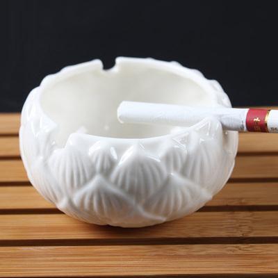 【古木茶语】创意白瓷莲花烟灰缸