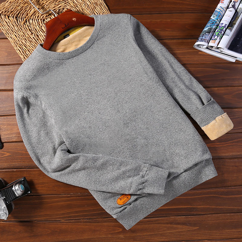 Plus Velvet 2078 Light Gray (round Neck)