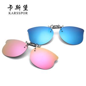 儿童墨镜夹片轻巧偏光太阳镜男女小孩近视夹片式防紫外线遮阳眼镜