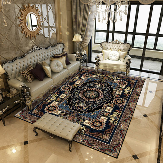 European style carpet living room sofa coffee table cushion light luxury home bedroom office floor cushion American Iran Persian style