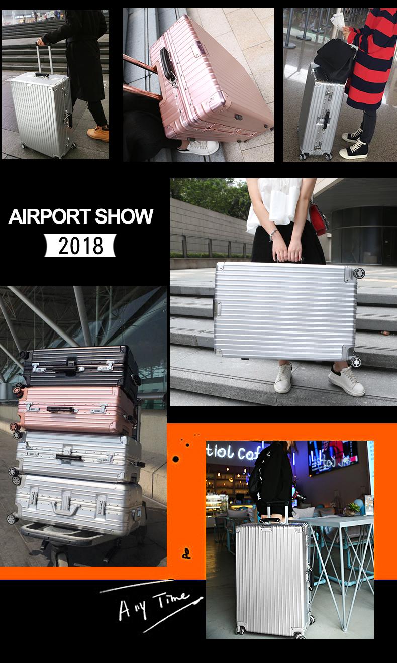 铝框拉桿箱万向轮寸铝合金行李箱復古旅行箱寸男登机箱寸女详细照片