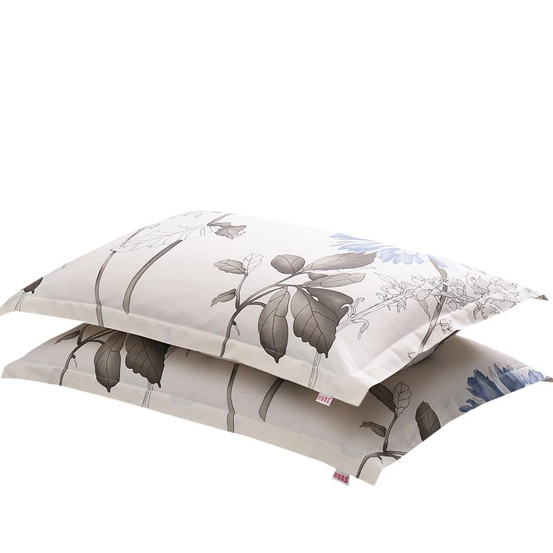 纯棉枕套一对装全棉枕头套单人双人学生宿舍加厚大码情侣枕芯套