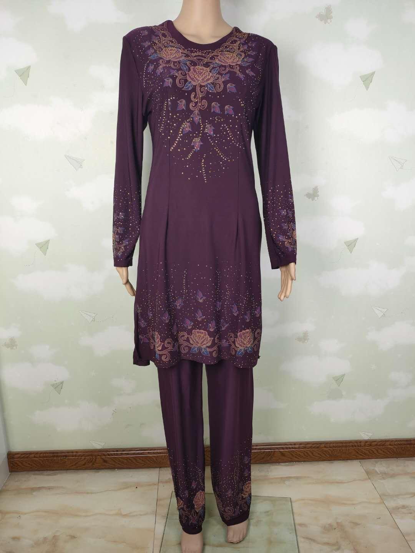穆斯林民族夏季新款大码女士女装巴服回族精品包邮原创设计新品详细照片