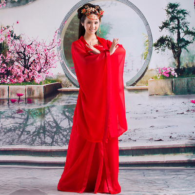 Ancient clothing fairy Chiffon adult Hanfu costume performance Dress Lady imperial concubine costume Tang costume Traditional Chinese Clothing