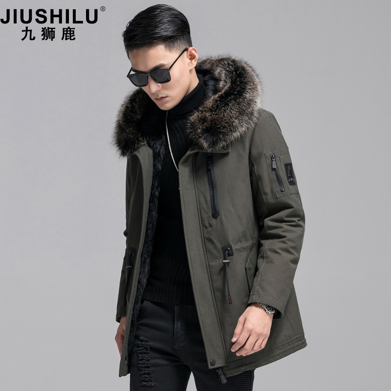 Pai overcomes the male fur all-in-one fur inner bile leather cloth business ni overcome the coat mule fur collar fur coat.