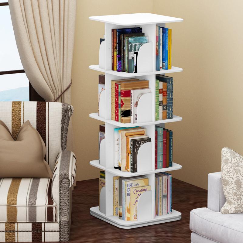 Home & Kitchen Cabinets, Racks & Shelves Rotating Bookshelf Shelf