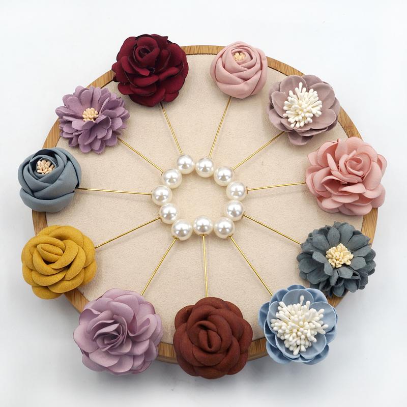 胸花布藝花朵胸針女西裝配飾氣質韓國職業外套開衫別針裝飾配飾女