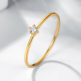Xi Diamond 18K Gold Little Drill Rings Diamond Ring Light luxury Golden Crummy Diamond Brick Ring Rose Gold Round Small Tail Ring