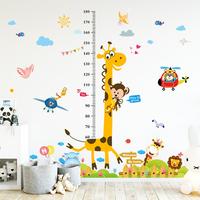 Детские рост Наклейка съемная сумма рост Линейка наклейки детские Декоративные обои для спальни