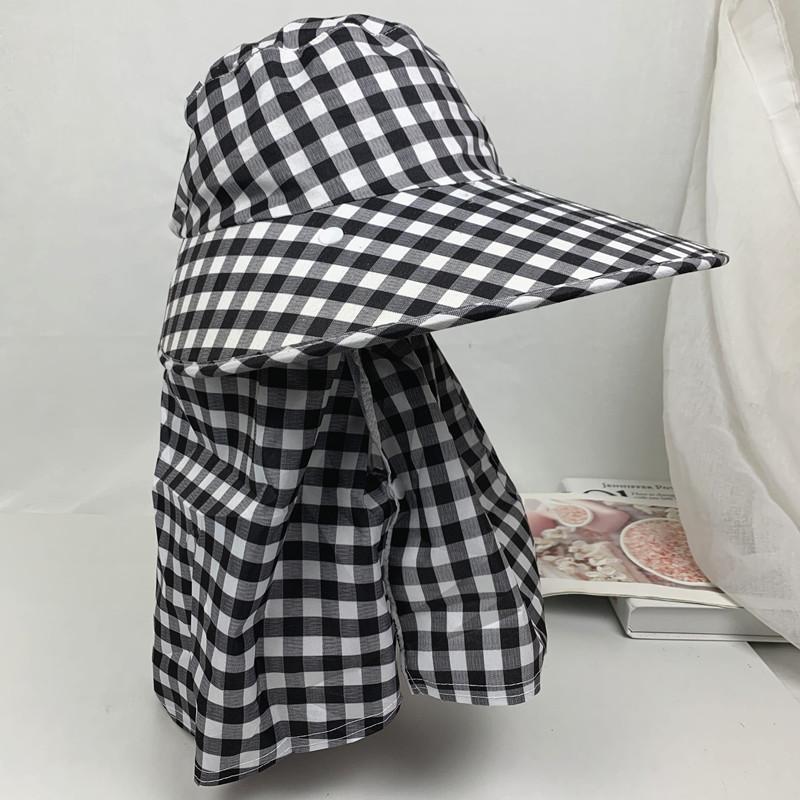 防曬帽子女戶外採茶帽騎電動車遮臉護頸太陽帽防紫外線可拆卸涼帽【快出】