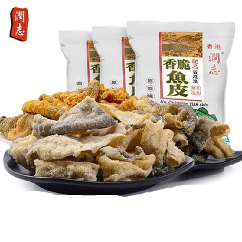 香港特产润志鱼皮110gx3包网红美食限2000张券