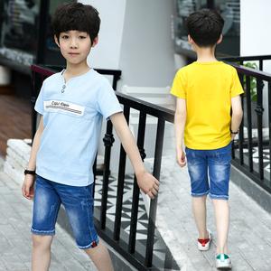 童装男童套装儿童夏季休闲两件套