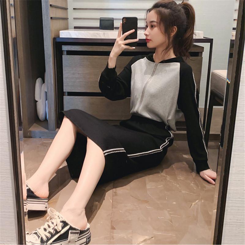 2019新款女法式时尚套装裙子初秋气质港味小香风小清新女装连衣裙