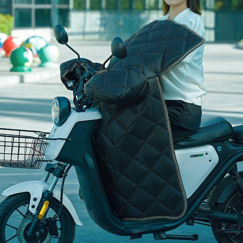 电动摩托车挡风被冬季加绒加厚加大电瓶车女小秋冬防寒防水防风罩