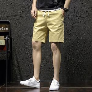 2019工装裤男裤?#26377;?#38386;学生五分裤男士短裤夏季运动?#31243;?#20013;裤潮