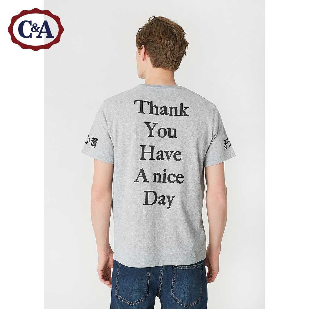 C&A CA200200495 Thank You Have A Nice Day 男士T恤