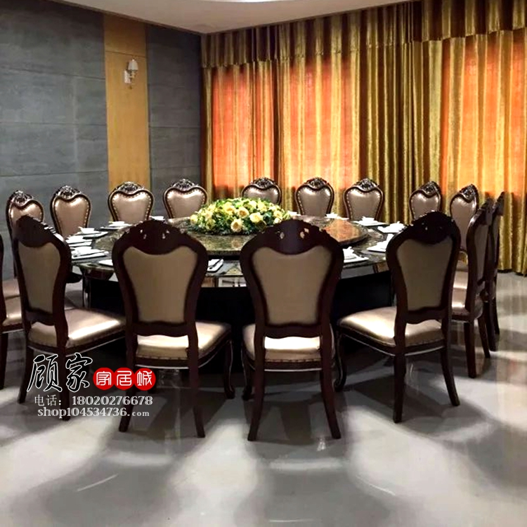 Exceptionnel Hotel Electric Dining Table Large Round Table Restaurant Dining Table  Automatic Rotation With Turntable 15 People 20 People Hot Pot Table And  Chair ...