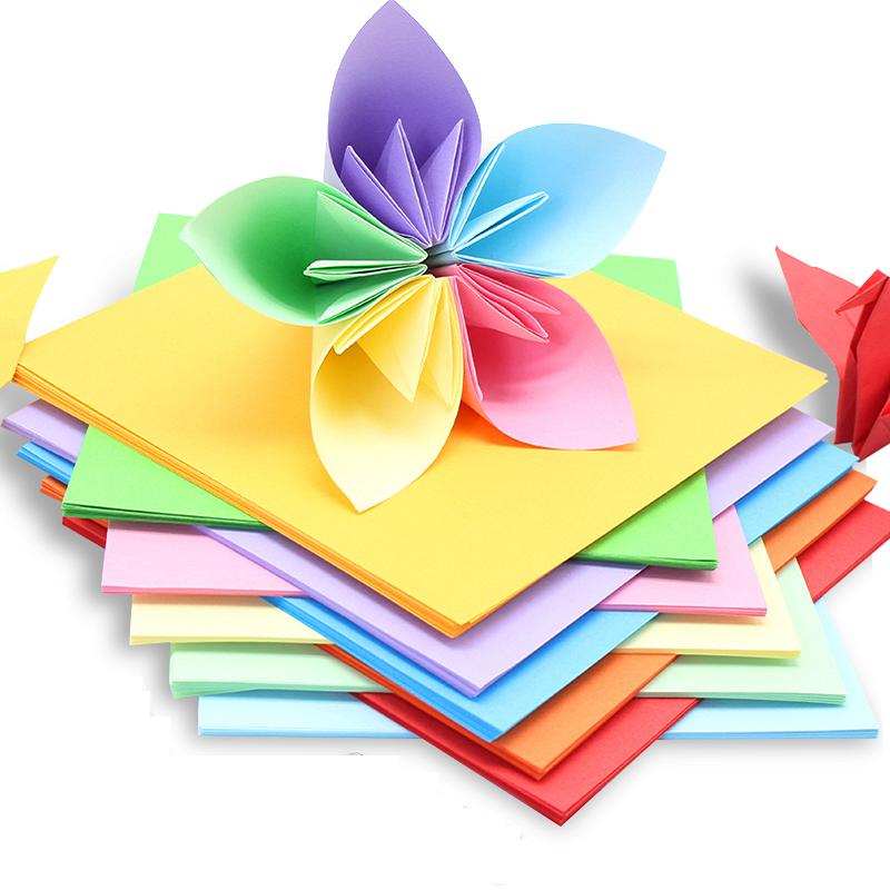 100张儿童手工剪纸千纸鹤彩色折纸