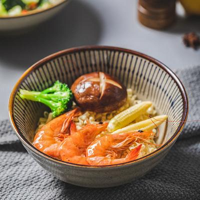 日式陶瓷吃面的碗家用面馆专用拉面碗面条碗斗笠碗大号拌面碗汤碗