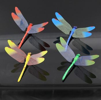 Simulation dragonfly magnetic refrigerator sticker home decoration wall sticker background decoration gardening 14CM dragonfly plastic dragonfly
