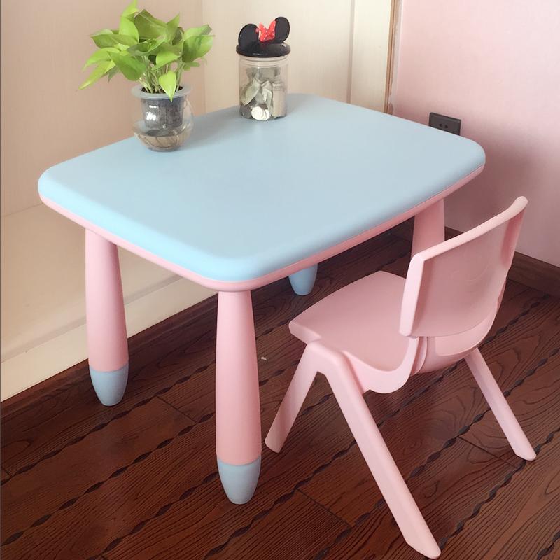 儿童书桌塑料桌椅学习桌套装幼儿园小孩宝宝课桌写字桌台1桌1椅套