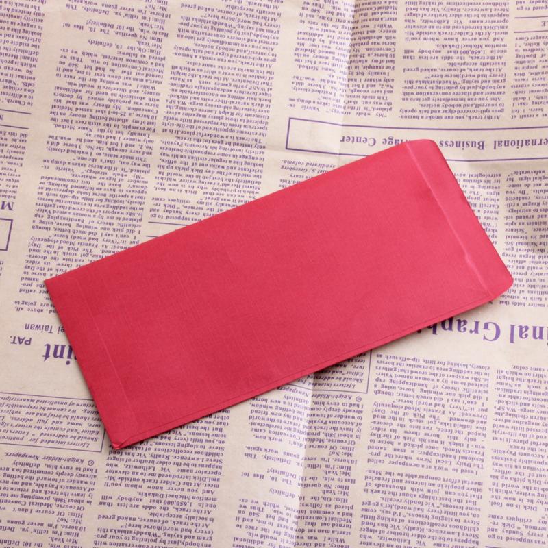 中秋红包信封式无字红包 大红色 全空白小号红包 简约百元红包 年终奖金信封 10个装
