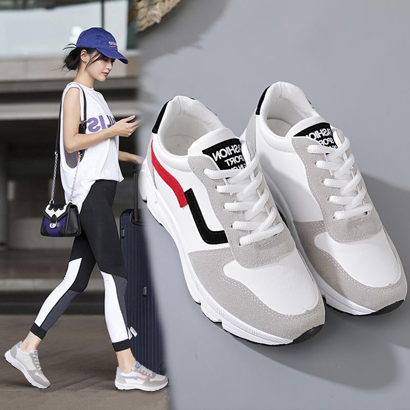 鞋子女2019新款秋季白色运动鞋女韩版跳舞百搭学生小白鞋女网红鞋