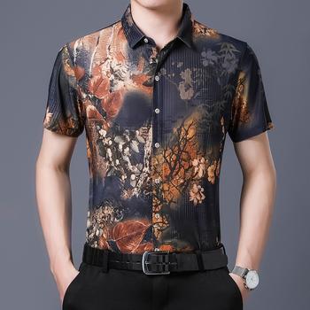 新品男士短袖衬衫韩版免烫休闲衬衣