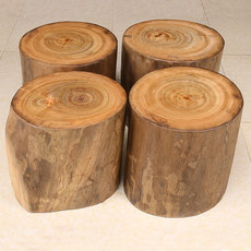 Camphor tree stump original wood stool tree root root carving coffee table round stool home solid wood pier stool stump