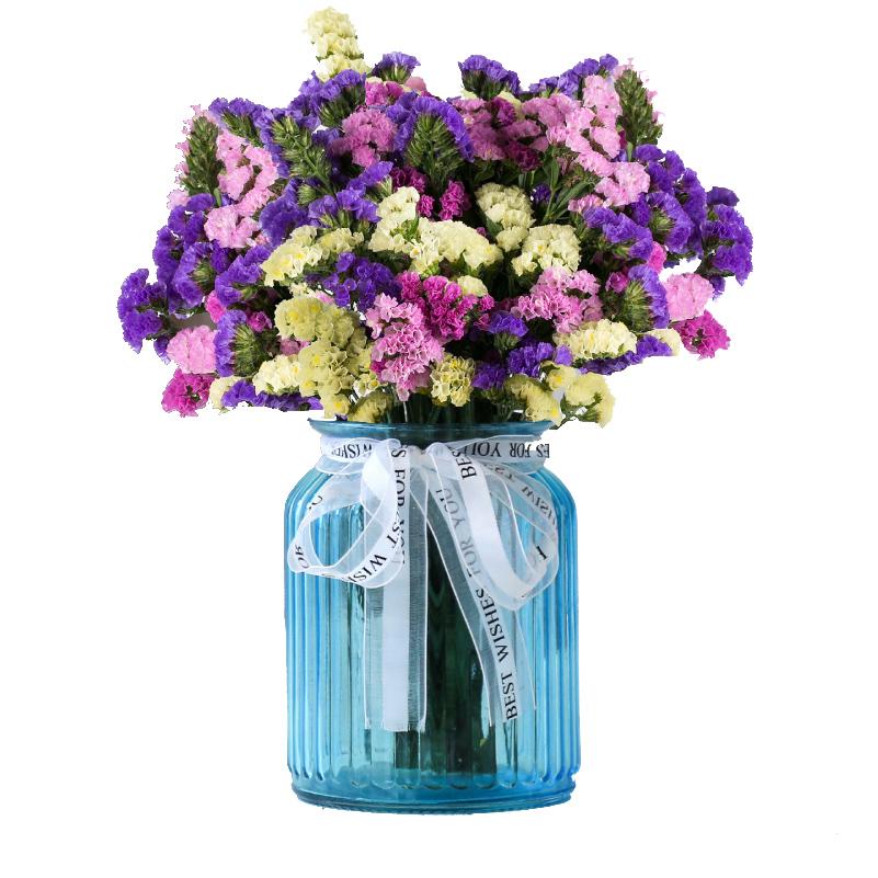 Yunnan dried flower vase artificial flower glass dried flower ...
