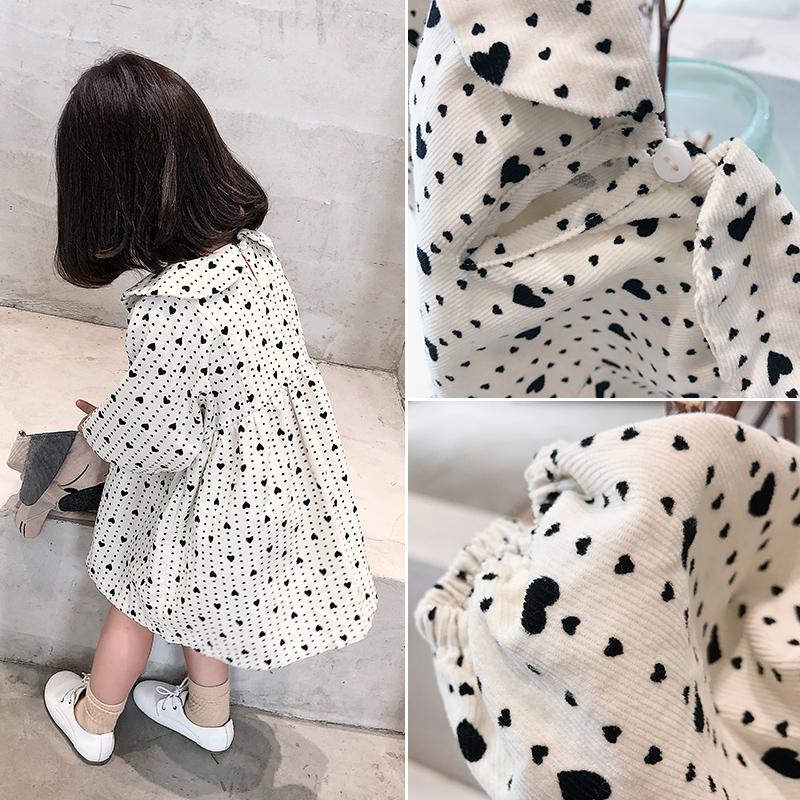 Детское Осенняя одежда 2018 года новая коллекция на девочку Платье для любви детские для маленькой принцессы платье женщины детские A слово юбка прилива