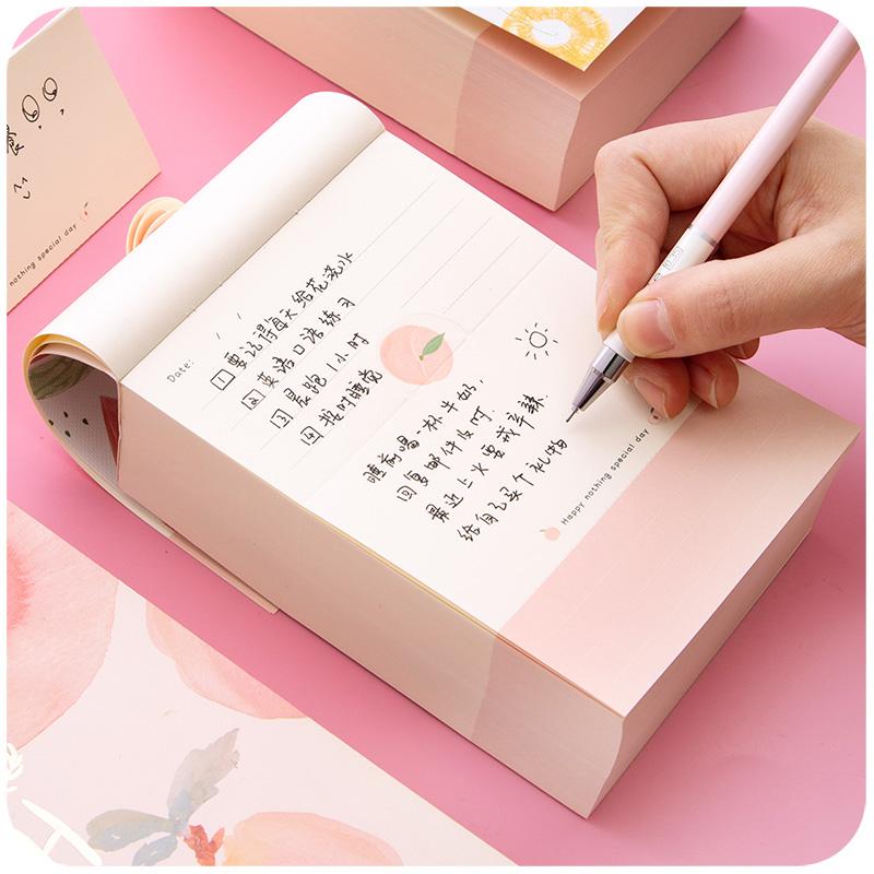 韩国可爱a6超厚便签本可撕学生小本子大本子无粘性备忘录桌面神器