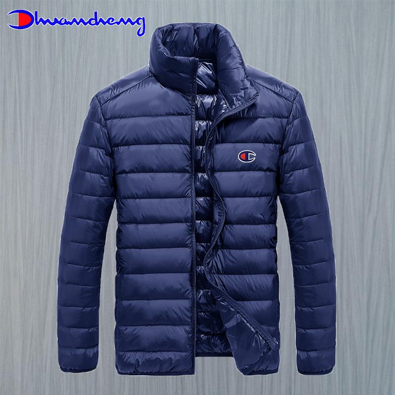 轻薄羽绒服男冬季立领简约白鸭绒保暖外套