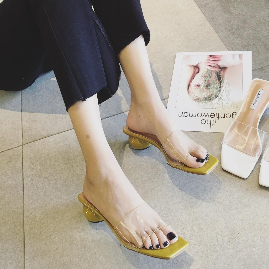 2019 Verore Korean Sandale Ri Versionin E Transparente Të Me Femra 8n0OkXwP