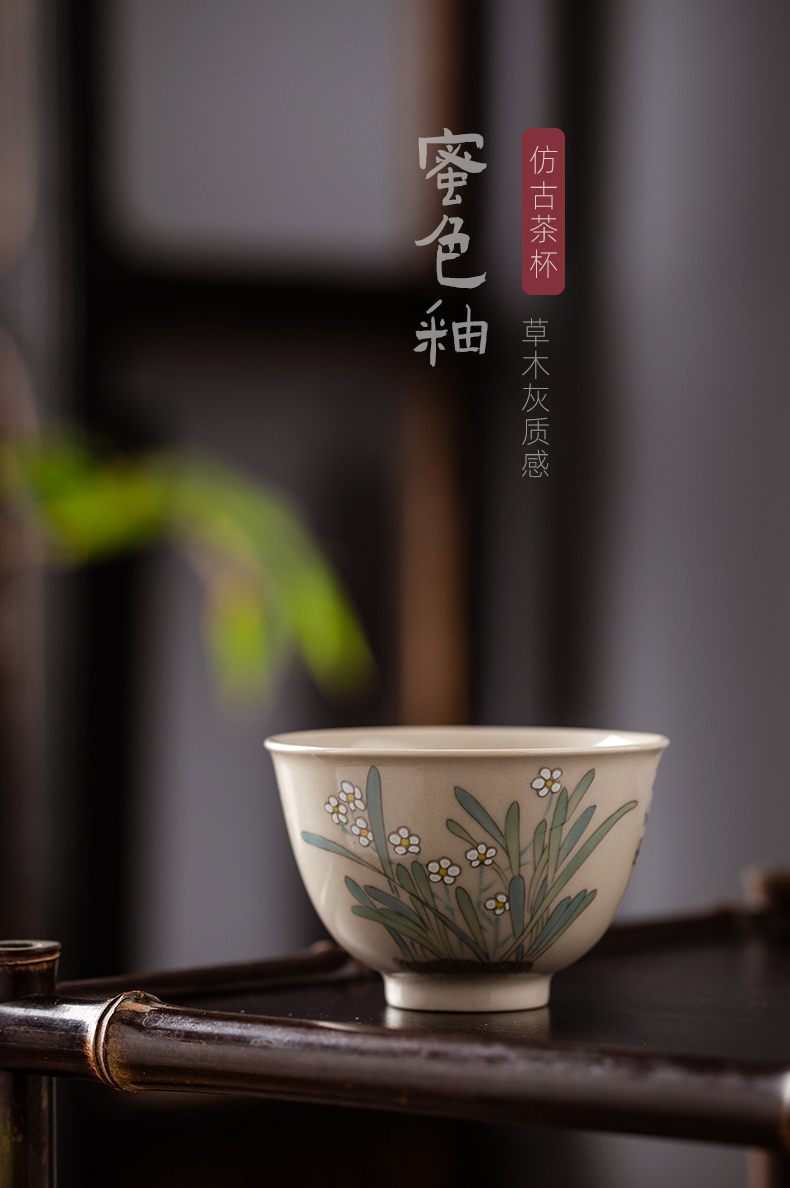 Single cup kung fu tea cups small bowl tea masters cup by hand, jingdezhen ceramic tea set man woman only antique