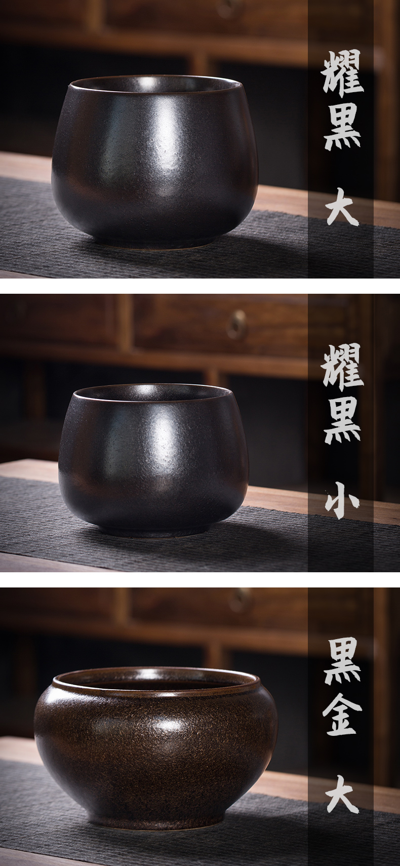 Kung fu tea accessories tea vintage Japanese zen ceramic tea in hot wash large small cylinder water jar home writing brush washer
