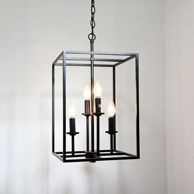 American retro lantern chandelier modern restaurant candle light creative personality bedroom decorative staircase lamps
