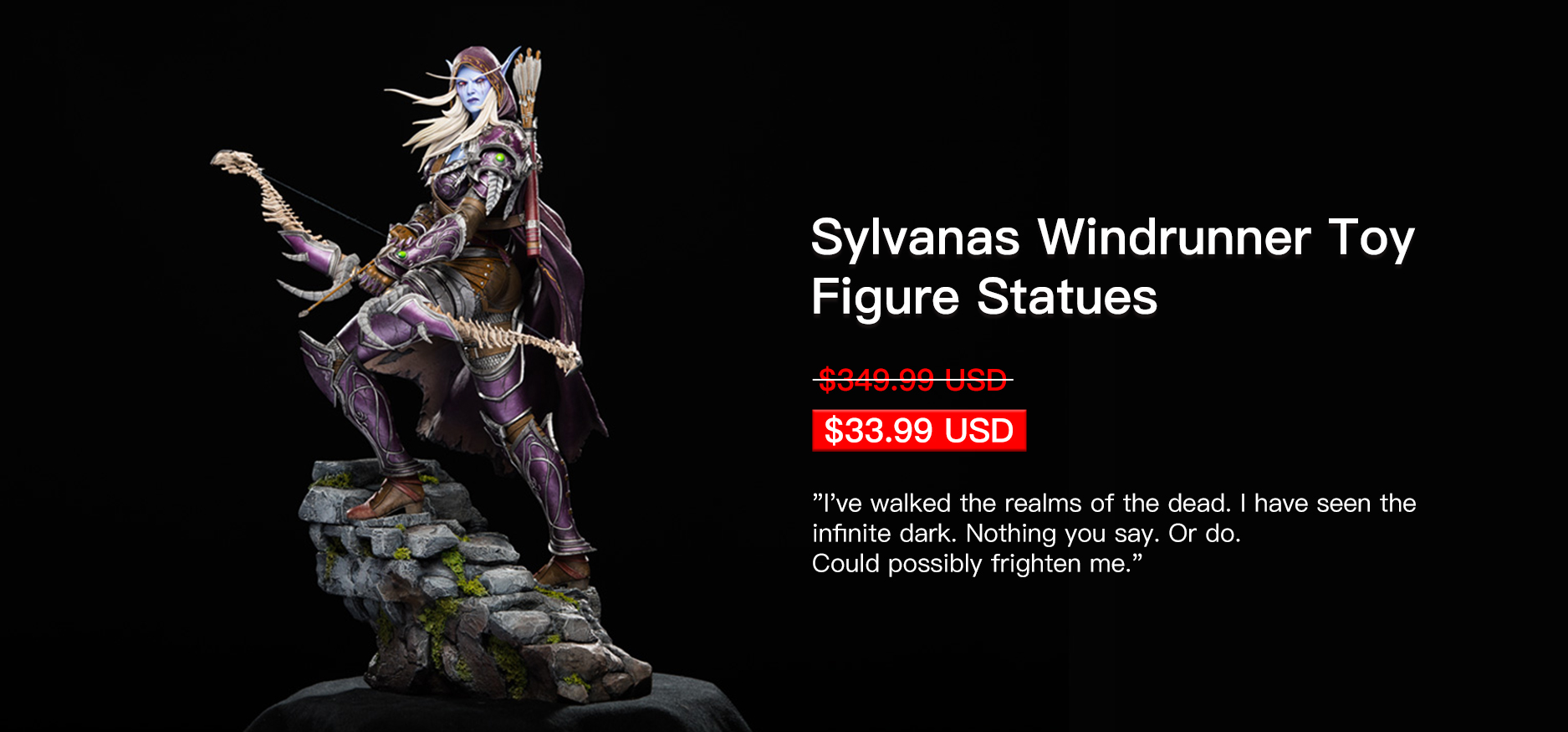 Sylvanas Windrunner Toy Figure Statues