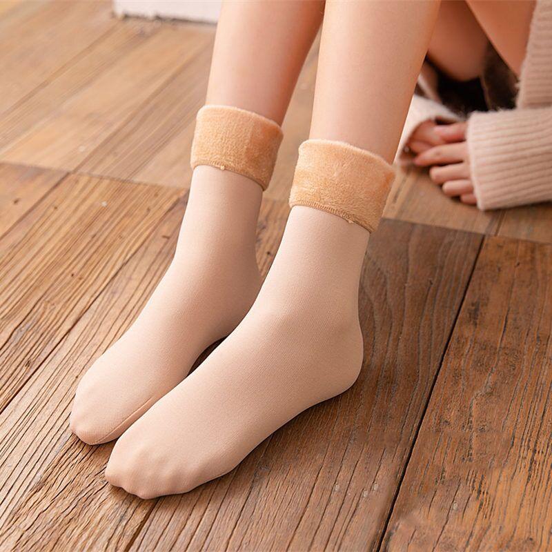 【艾丝朵秀】冬季加绒加厚雪地袜3双装