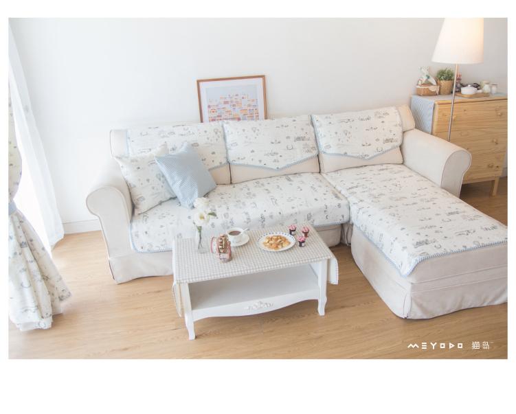 沙发垫沙发巾 韩式田园布艺双面盖布棉坐垫 欧式沙发坐垫双面定制 -