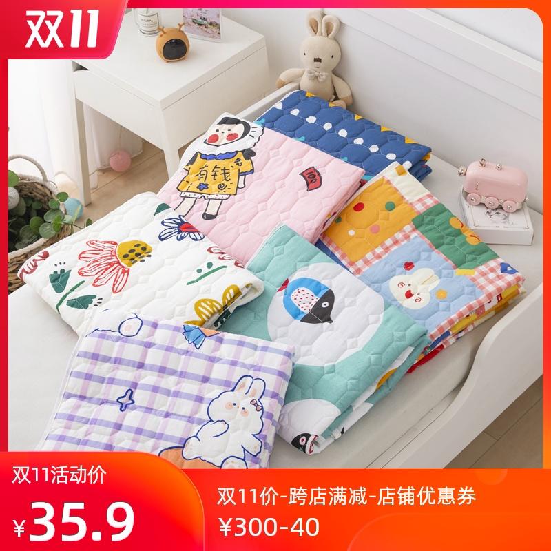 儿童床垫1.2米软垫单人纯棉幼儿园午睡可洗薄款学生拼接床褥垫子