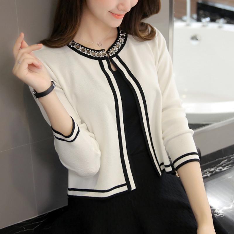 秋季薄款短款针织衫开衫女长袖春夏装新款韩版修身外搭披肩小外套
