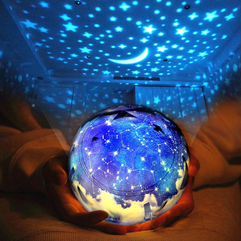 a星光旋转星光睡眠灯仪星星梦幻创意小夜灯满天星投影星空夜光卧室