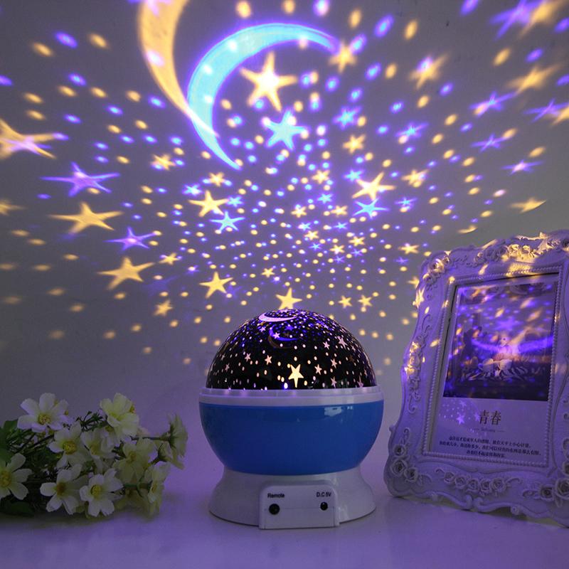 创意浪漫星空投影灯仪卧室梦幻旋转满天星睡眠星光夜光星星小夜灯