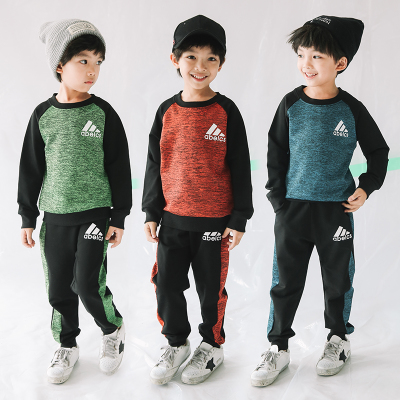 【喜安优】新款加绒加厚运动男童套装