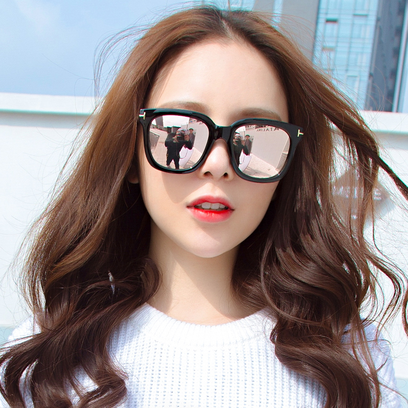 470b2a68cfb72 2019 new retro round face big box square black sunglasses female Korean  version of the trend of street red polarized sunglasses